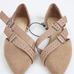 f1aa25a481f NWT GAP Moto Flats Faux Suede Size 6